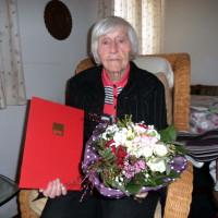 Elli am Tag ihrer Ehrung für 63 Jahre Mitgliedschaft in der SPD